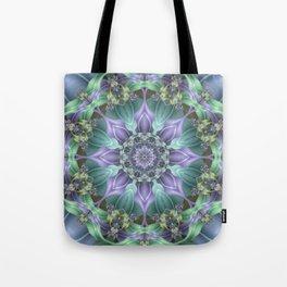 Ribbon Mandala in Blue and Purple Tote Bag