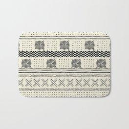 Mud Cloth Geometric Stripe in Cream Bath Mat