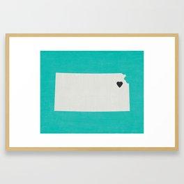 Kansas Love Framed Art Print