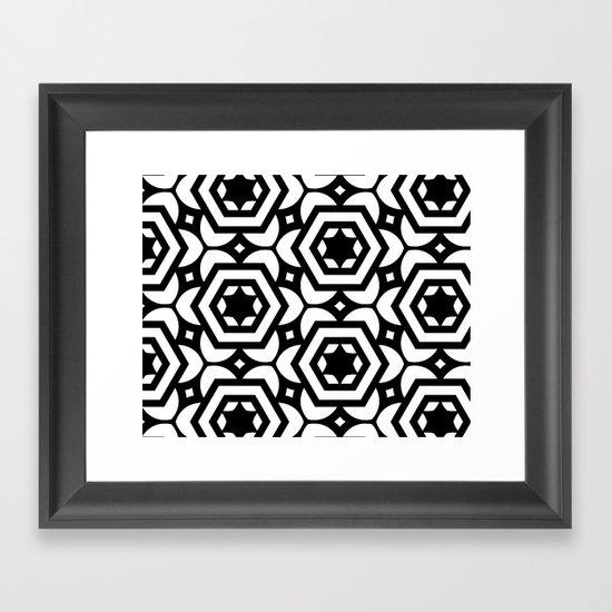 Vogelaar Black & White Pattern Framed Art Print