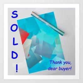 Blogpost; - not for sale ... Art Print