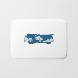The Purrfect Workout Routine Bath Mat