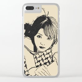 Chain leash and collar, good pet submissive, sexy slave girl, sub woman fetish Clear iPhone Case
