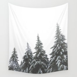 Frozen Spruces Wall Tapestry