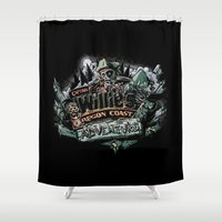 goonies Shower Curtains featuring Oregon Coast Adventure by TEEvsTEE