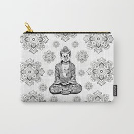 Buddha, HOME DECOR,with hand-painted Mandala Clouds,iPhone case,iPhone cover,iPhone skin,Laptop skin Carry-All Pouch