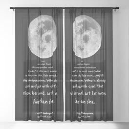 Moon Bridge Shakespeare Sheer Curtain