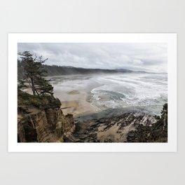 Lookout Point near Otter Rock Art Print