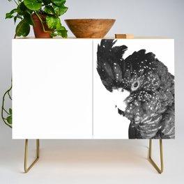 Black and White Cockatoo Illustration Credenza