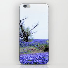 Lonely Tree & Bluebonnets iPhone Skin