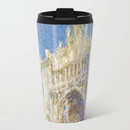 1894-Claude Monet-Rouen Cathedral, West Façade, Sunlight-65 x 100 Travel Mug