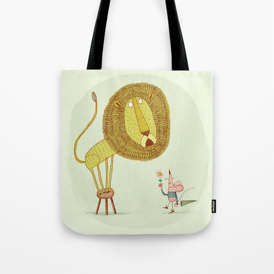 'Lion & Mouse' Tote Bag