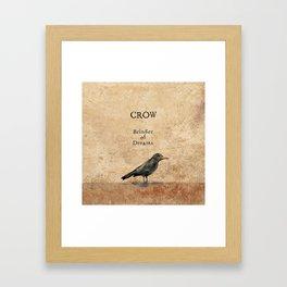 Crow, Message Bringer Framed Art Print