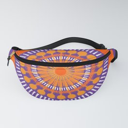 Rough Orange Mandala Fanny Pack