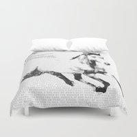 courage Duvet Covers featuring Courage by 1551 MX