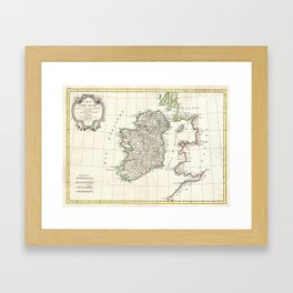 Vintage Map of Ireland (1771) Framed Art Print