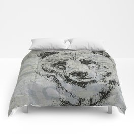 Gray Bear Comforters