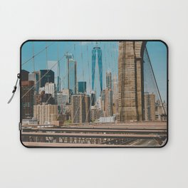 The Bridge in New York City (Color) Laptop Sleeve