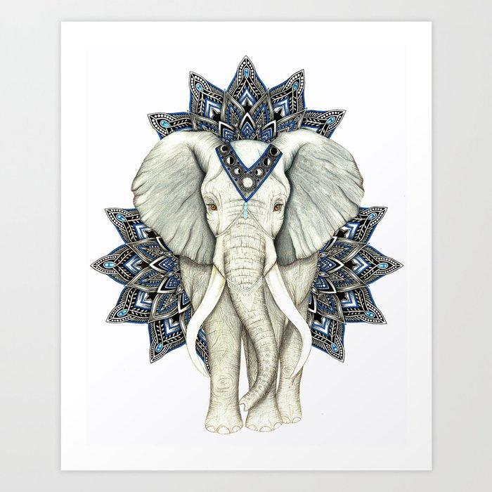 d87838d9a Zen Elephant Mandala Art Print by brilazar   Society6