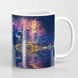 Singapore Night Skyline Coffee Mug