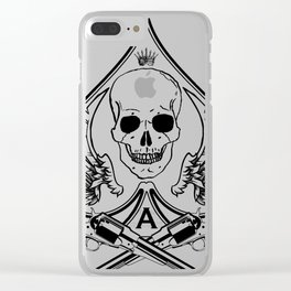 Ace of Spades Clear iPhone Case