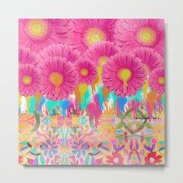 floral otomi bomb Metal Print
