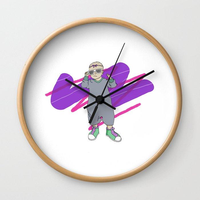 Baby's Got 'Tude Wall Clock