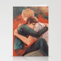 yaoi Stationery Cards featuring Raira Days by washuuchan