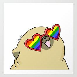 Pug love lgtb pride Art Print