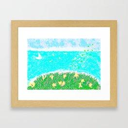 YELLOW NARISSI Framed Art Print