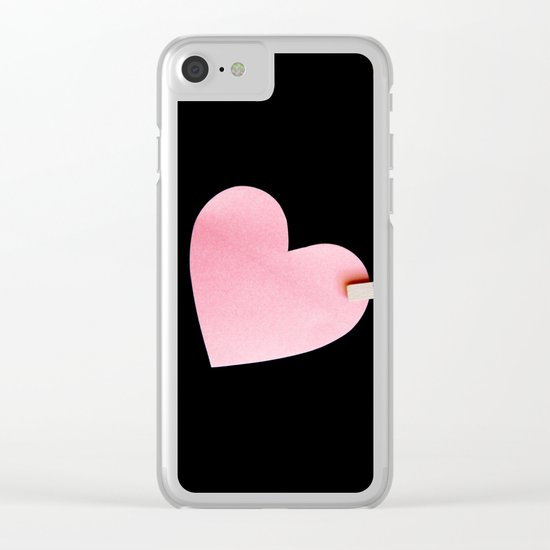 Heart of paper Clear iPhone Case
