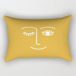wink / mustard Rectangular Pillow