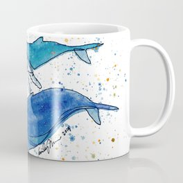 Whale Mommy and Baby Coffee Mug