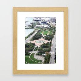 Buckingham Fountain Chicago Illinois Color Photo Framed Art Print