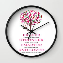 Winnie the Pooh Book Quote Wall Clock