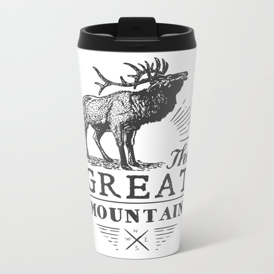 american deer Metal Travel Mug