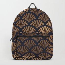 Art Deco Shell Pattern Backpack