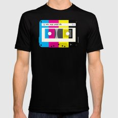 CMYK Mix tape called life Mens Fitted Tee Black MEDIUM