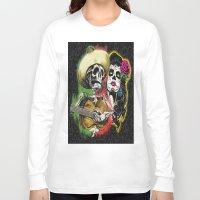 dia de los muertos Long Sleeve T-shirts featuring Dia de Los Muertos by Kevin Rogerson
