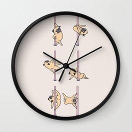 Pugs Pole Dancing Club Wall Clock