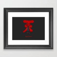 Raging Demon Framed Art Print