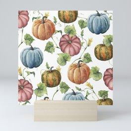 PUMPKINS WATERCOLOR Mini Art Print