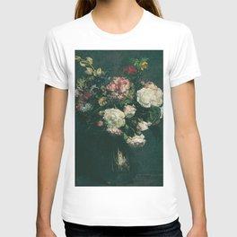Henri Fantin Latour - Vase Of Flowers T-shirt