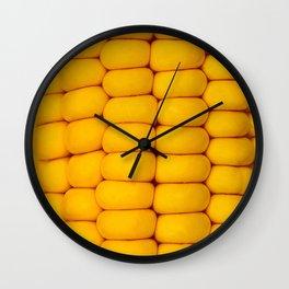 Yellow corn pattern Wall Clock