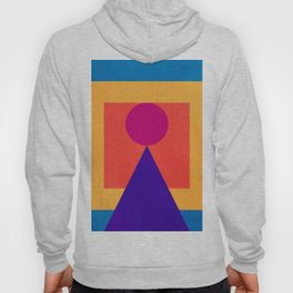Abstract Christmas Tree Minimal Art Red and Blue Hoody