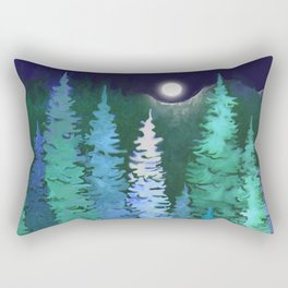 The woods and the moon Rectangular Pillow