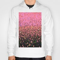 sparkles Hoodies featuring  Sparkles and Glitter Pink by Saundra Myles