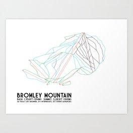 Bromley, VT - Minimalist Trail Art Art Print
