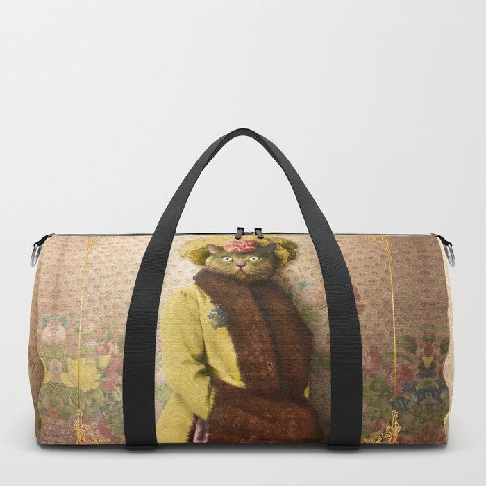 Lady Vanderkat with Roses Duffle Bag