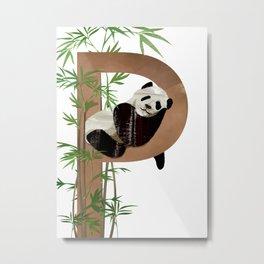 P - Panda Metal Print
